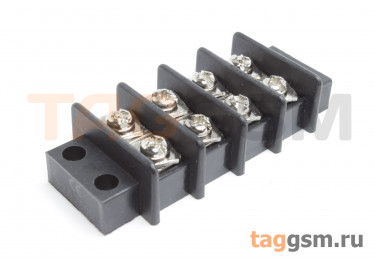 LF69-11.0-04P (Черный) Барьерный клеммник монтажный 4 конт. шаг 10мм 750В 25А