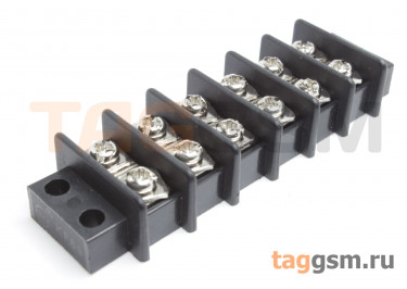 LF69-11.0-06P (Черный) Барьерный клеммник монтажный 6 конт. шаг 10мм 750В 25А