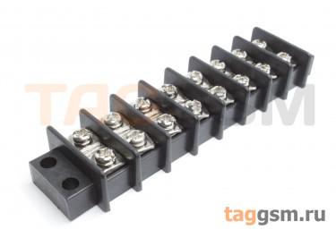 LF69-11.0-08P (Черный) Барьерный клеммник монтажный 8 конт. шаг 10мм 750В 25А