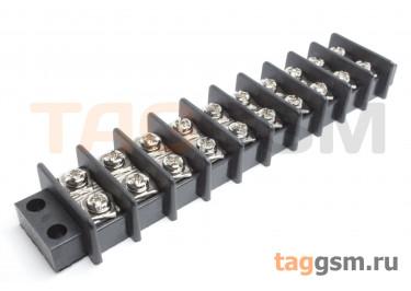 LF69-11.0-10P (Черный) Барьерный клеммник монтажный 10 конт. шаг 10мм 750В 25А