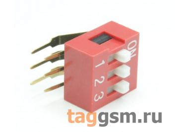 DA-03R (Красный) DIP переключатель 3 поз. угловой 50В 0,1А