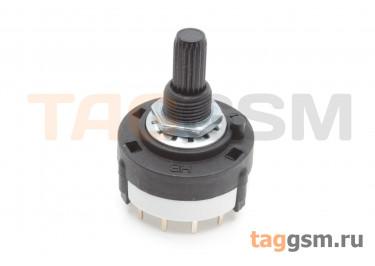 RTS-01-4P-20VP Галетный переключатель 4P3T 250В 0,15А (9мм)