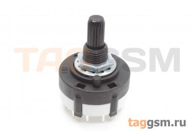 RTS-01-1P-20VP Галетный переключатель 1P12T 250В 0,15А (9мм)