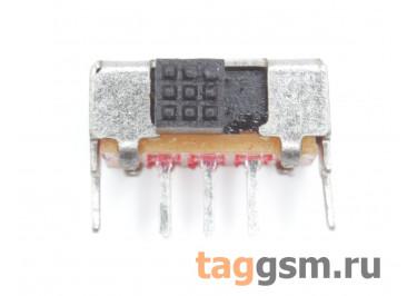SK-22D02GB3 Переключатель движковый на плату угловой ON-ON DPDT 30В 0,3А