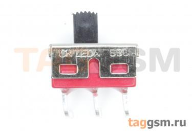 SS8-5 Переключатель движковый на плату угловой ON-ON SPDT 250В 2А