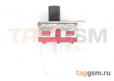 SS8-7 Переключатель движковый на плату угловой ON-ON SPDT 250В 2А