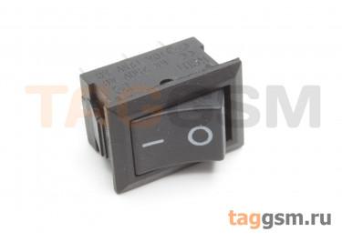 KCD1-102-C3-B / B Переключатель на панель черный ON-ON SPDT 250В 6А (24x17мм)