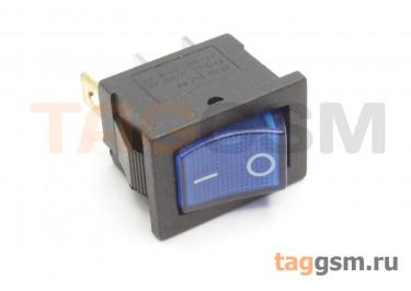 KCD1-2-101N-C3-BL / B-220V Переключатель на панель с пдсветкой 220В синий ON-OFF SPST 250В 6А (19x12мм)