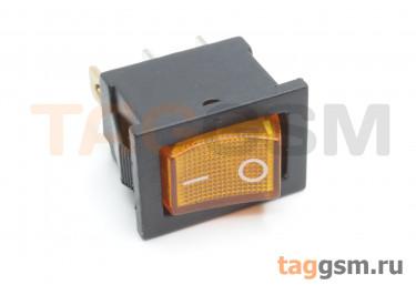 KCD1-2-101N-C3-Y / B-220V Переключатель на панель с пдсветкой 220В желтый ON-OFF SPST 250В 6А (19x12мм)