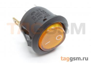 KCD1-5-101N-C3-Y / B-220V Переключатель на панель с пдсветкой 220В желтый ON-OFF SPST 250В 6А (19мм)