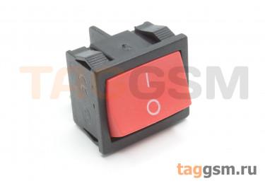 KCD1-6-201-C3-R / B Переключатель на панель красный ON-OFF DPST 250В 6А (18,7x21,9мм)
