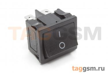KCD1-6-202-C3-B / B Переключатель на панель черный ON-ON DPDT 250В 6А (18,7x21,9мм)