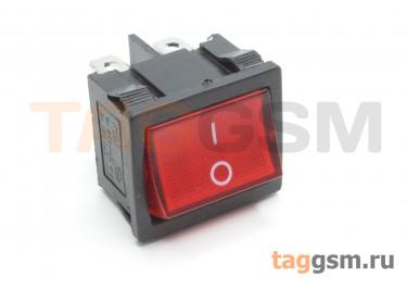 KCD1-6-202-C3-R / B Переключатель на панель красный ON-ON DPDT 250В 6А (18,7x21,9мм)