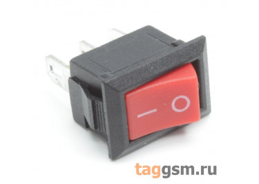 KCD5-102-C3-R / B Переключатель на панель красный ON-ON SPDT 250В 3А (13,2x8,8мм)