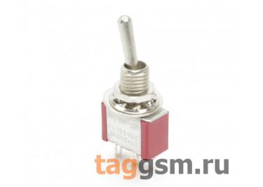 MTS-111R Тумблер на панель без фиксации OFF-(ON) SPST 250В 3А (6мм)
