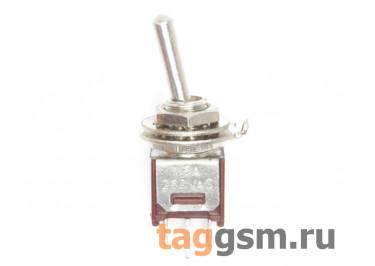 SMTS-102-2A1 Тумблер на панель ON-ON SPDT 250В 1,5А (5мм)