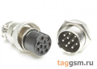 DS1110-17-10B6N Вилка на кабель с розеткой на панель 5А