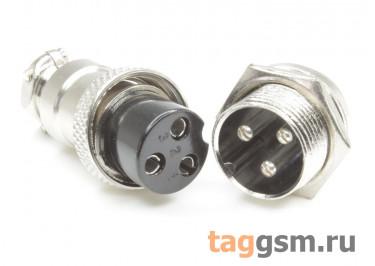DS1110-17-3B6N Вилка на кабель с розеткой на панель 7А