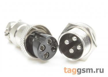DS1110-17-4B6N Вилка на кабель с розеткой на панель 7А