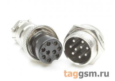 DS1110-17-9B6N Вилка на кабель с розеткой на панель 5А