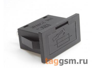 BHC1 Держатель предохранителя 5х20мм на панель 250В 10А (24x12мм)