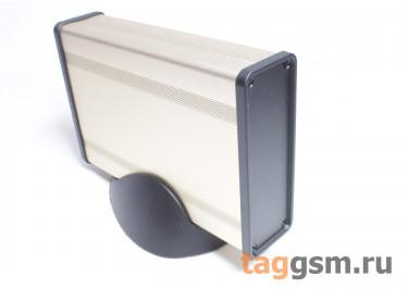 BAD 11001-A6(W140) Корпус алюминиевый настольный золотой 96x33x140мм