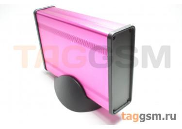 BAD 11001-A4(W140) Корпус алюминиевый настольный розовый 96x33x140мм