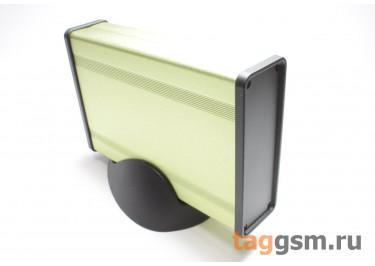 BAD 11001-A5(W140) Корпус алюминиевый настольный зеленый 96x33x140мм