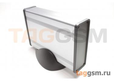 BAD 11001-A1(W140) Корпус алюминиевый настольный серый 96x33x140мм