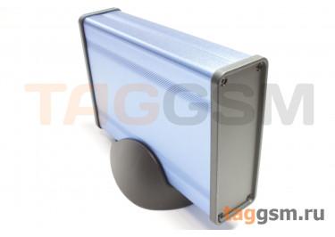 BAD 11001-A3(W140) Корпус алюминиевый настольный синий 96x33x140мм