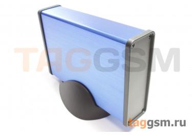 BAD 11002-B3(W140) Корпус алюминиевый настольный синий 96x33x140мм