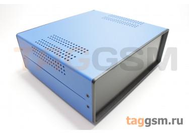 BDA 40007-A6(W195) Корпус стальной настольный синий 220x80x195мм