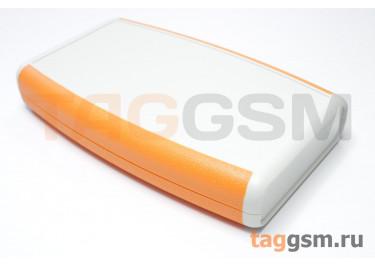 AK-H-30a Корпус пластиковый мобильный белый / оранжевый 147x88x25мм (0,098кг)