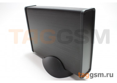 BAD 11004-B7(W160) Корпус алюминиевый настольный чёрный 125x33x160мм