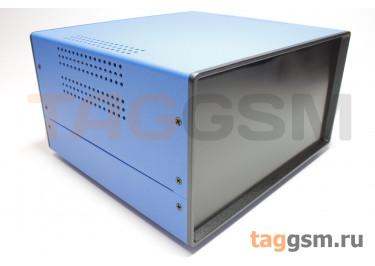 BDA 40008-A6(W195) Корпус стальной настольный синий 220x120x195мм