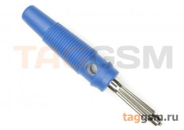 CX-06 / BL Штекер на кабель синий под винт 4мм 30В 24А