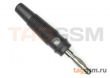 CX-07 / B Штекер на кабель черный под винт 4мм 30В 24А