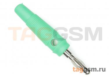 CX-07 / G Штекер на кабель зеленый под винт 4мм 30В 24А