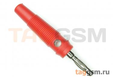 CX-07 / R Штекер на кабель красный под винт 4мм 30В 24А