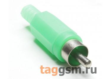 RP-405-GN-EN Штекер RCA на кабель (Зеленый)