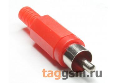 RP-405-R-EN Штекер RCA на кабель (Красный)