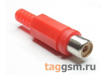 RP-406-R-EN Гнездо RCA на кабель (Красный)