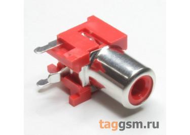 RS-155A-PBT-R Гнездо RCA на плату с выключателем (Красный)
