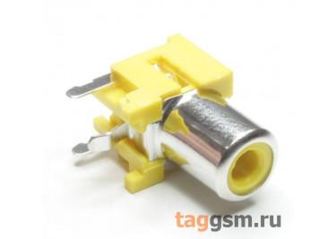RS-155A-PBT-Y Гнездо RCA на плату с выключателем (Желтый)