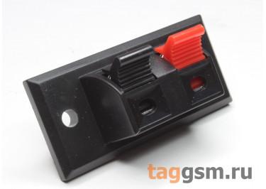 PT-213-01 Разъем для колонок клеммы нажимные 2 конт. на панель