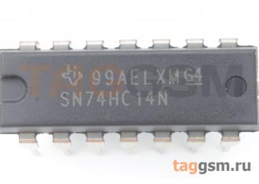 74HC14N FSC (DIP-14) Триггер Шмитта с инвертором