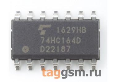 74HC164D (SO-14) Сдвиговый регистр 8-раз.