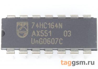 74HC164N (DIP-14) Сдвиговый регистр 8-раз.