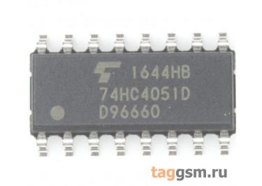 74HC4051D (SO-16) Аналоговый мультиплексор