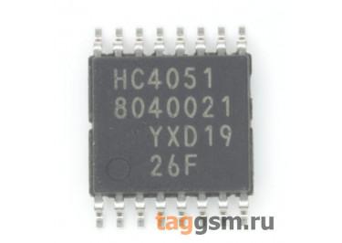 74HC4051PW (TSSOP-16) Аналоговый мультиплексор